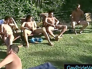 guy engulfing biggest group of boys outdoor part10