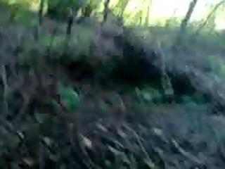wanking in forest (public)