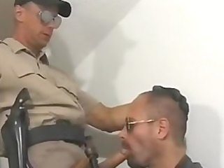 hawt cop officer meets leather hairy bear