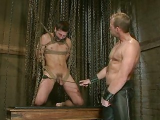 hot homo dude got bound up and tortured by