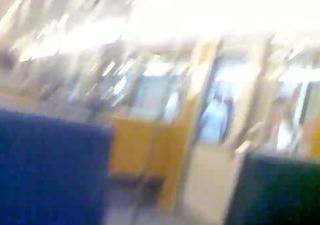 public cum in metro