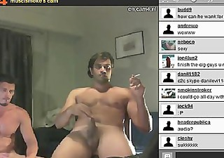 musclsmoke cam6 webcam homosexual couple part 8