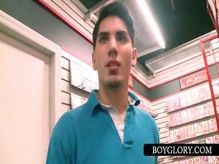 teenie acquires tricked into homo bj on gloryhole