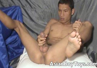 oriental boy jacking off