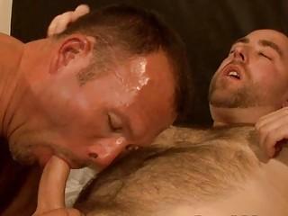 lascivious homosexual hunk sucks his mans bulky