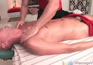 fellow receives three-some great massage part6