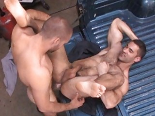 nasty homo stud got his constricted hairy a-hole