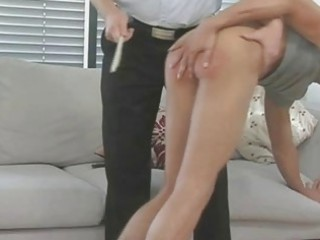 hunky gay fellow receives spanked and whipped good