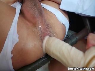 hawt thai twink riding on doctor twinks knob