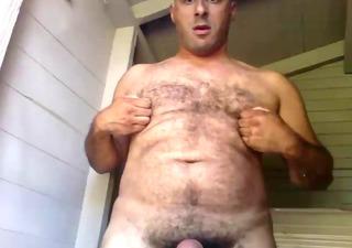 overweight bear jerking - paja de osazo gordete