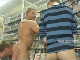 pecker swallowed in homo public group sex