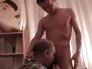 skinny homosexual lad gets his shlong sucked by