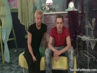 hot naughty blonde boy gets her taut arse homo