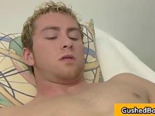 homo movie scene of golden-haired legal age