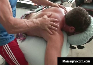 hawt and concupiscent man acquires the massage
