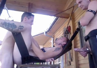 twink bb by 63 white top in a sling outdoors