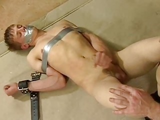 skinny mate bound and teased by homosexual man