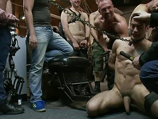 tattooed homo stud acquires hard on being