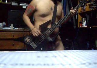 bare bass playing