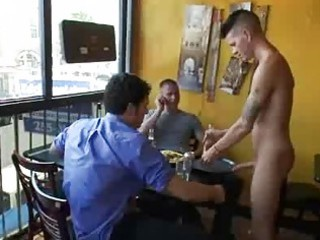 sadomasochism homo fuck by group of patrons in