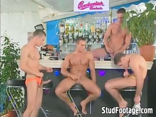 wild gay booty fucking fuckfest at the bar