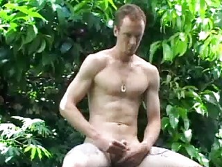 slender homosexual fellow jerks off his large