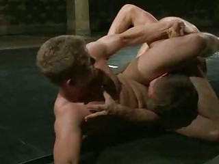 great looking homo studs wrestle for domination