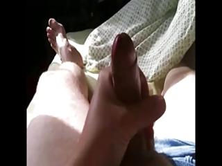 gay bulky chap masturbates alone :(