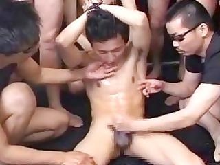 slim japanese homosexual guy acquires his dream