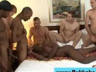 homo dark chap bukkake group-sex facial