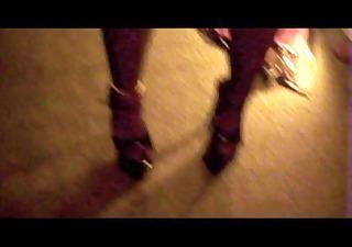 nylon stockings crossdresser irrumation cum on